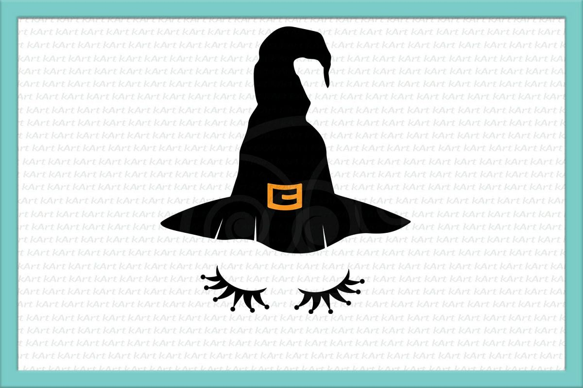 witch svg, witch face svg, witch hat svg, Halloween svg, little witch, iron on, witch dxf, png, closed eyes,girl witch,girl Halloween svg example image 2