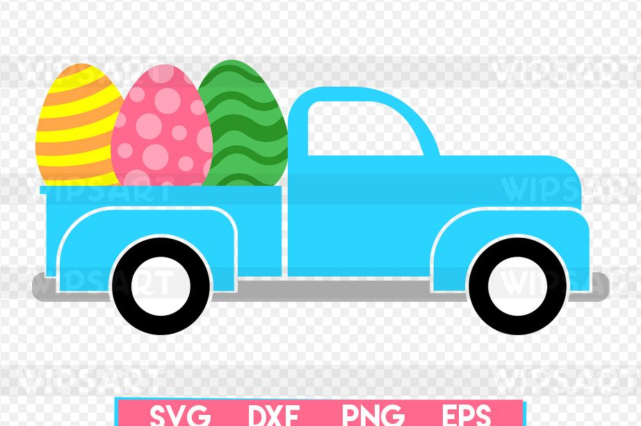 SALE! Easter old truck svg, easter eggs | Design Bundles