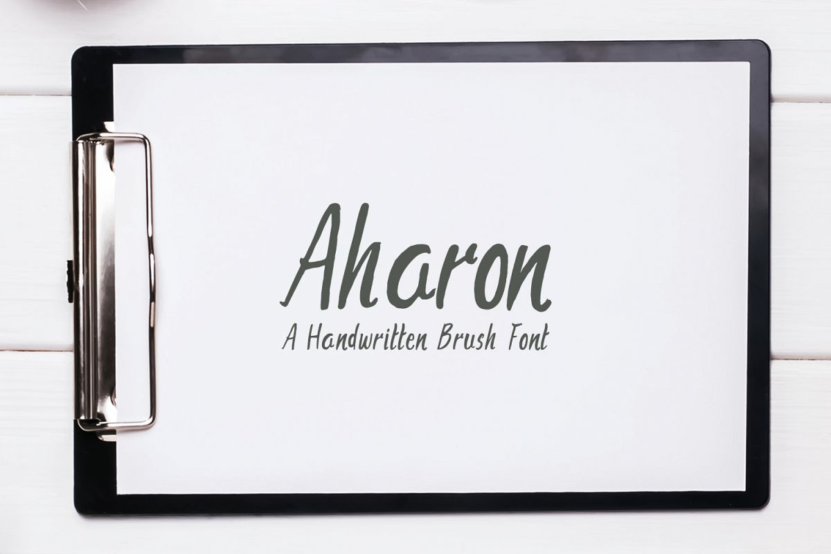 Aharon Handwritten Brush Font example image