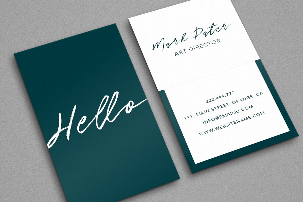 Professional hello script business card design bundles professional hello script business card example image reheart Image collections