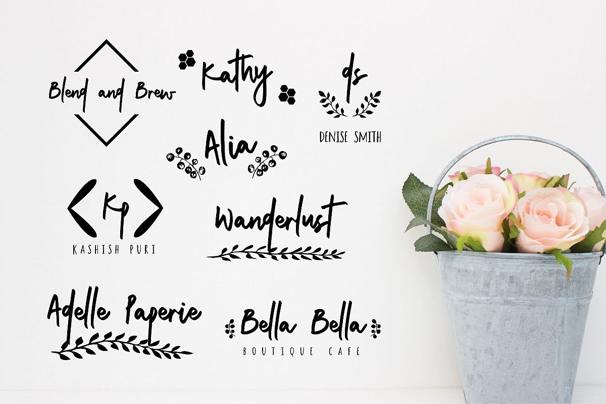 Cuddle and kind font duo logos by the font bundles cuddle and kind font duo logos example image 8 biocorpaavc Gallery
