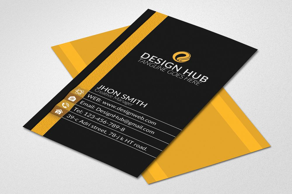 Vertical Business Cards by Designhub719 | Design Bundles