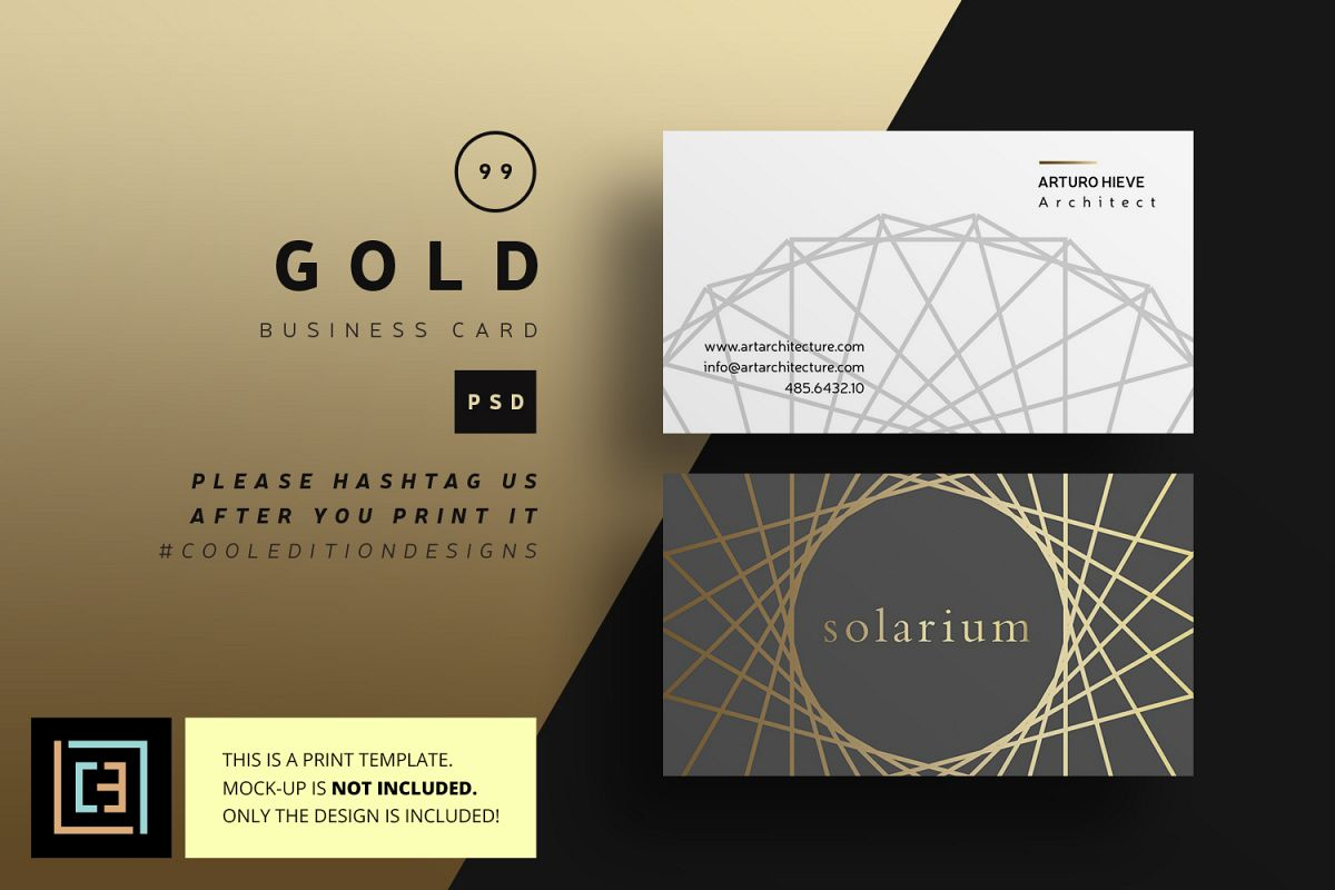 Gold business card bc099 by coolediti design bundles gold business card bc099 example image colourmoves