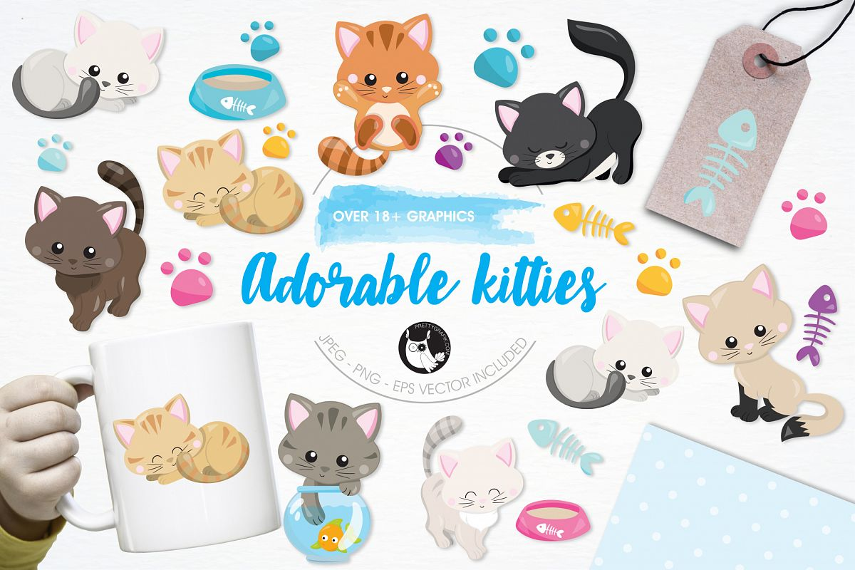 Adorable Kitties graphics and illustrations example image