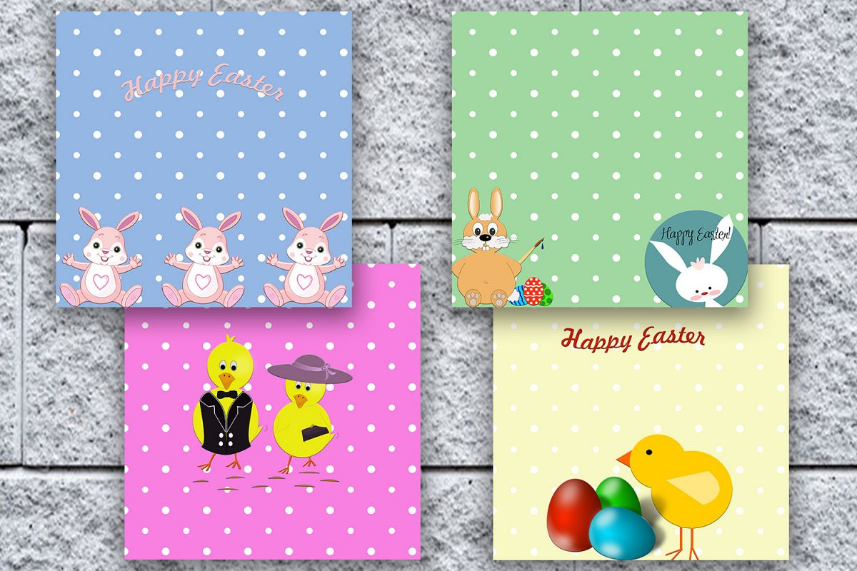 Easter digital papers easter scrapbook design bundles easter digital papers easter scrapbooking happy easter easter scrapbook paper bunny print jeuxipadfo Image collections