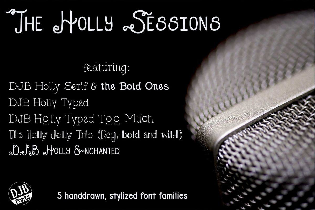 DJB Holly Sessions Font Bundle example image