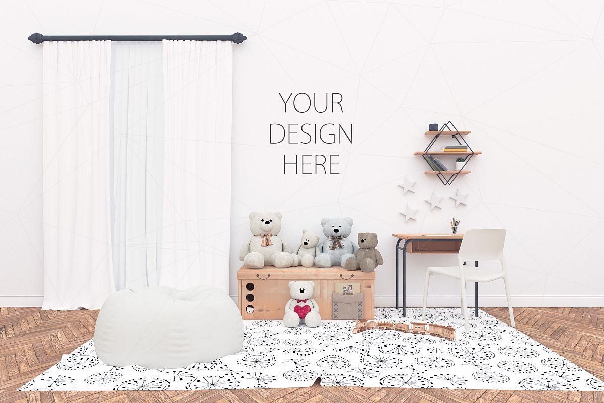 Interior mockup - blank wall mock up example image