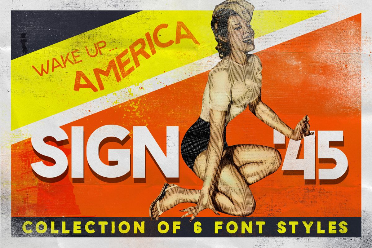 Sign '45 Typeface example image