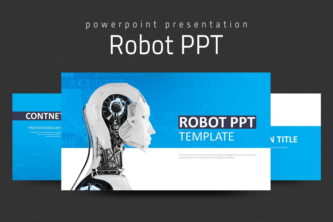 Robot ppt by goodpello design bundles robot ppt example image toneelgroepblik Choice Image
