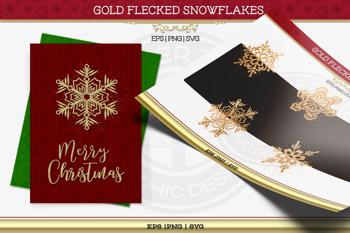 Gold Flaked Snowflakes example image