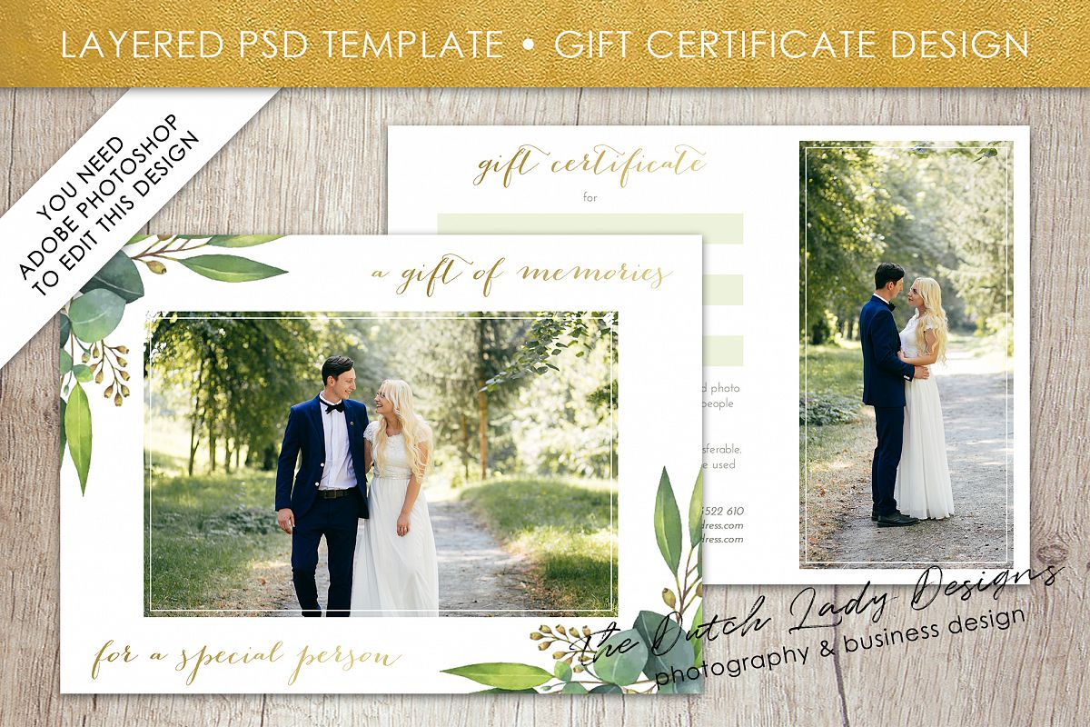 Photo gift card template for adobe phot design bundles photo gift card template for adobe photoshop layered psd template design 45 example yelopaper Choice Image