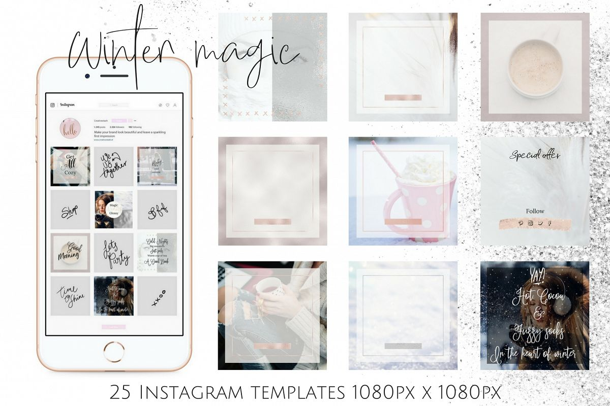 Instagram winter bundle example image