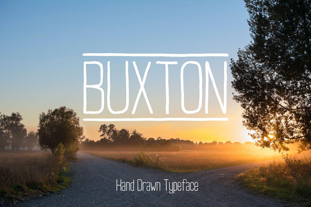 Buxton Font. example image