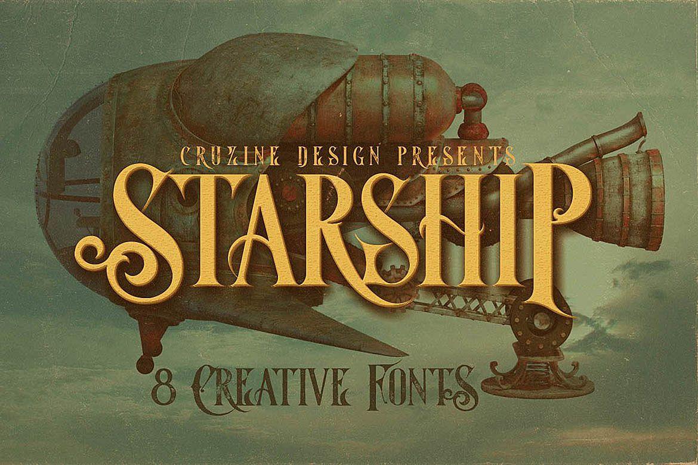 Starship Typeface example image