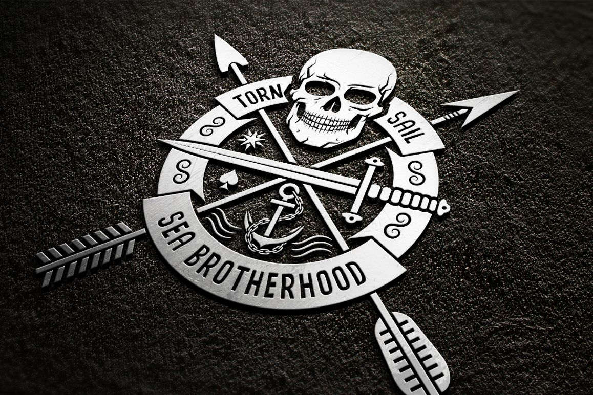 Skull logo set on dark example image 5