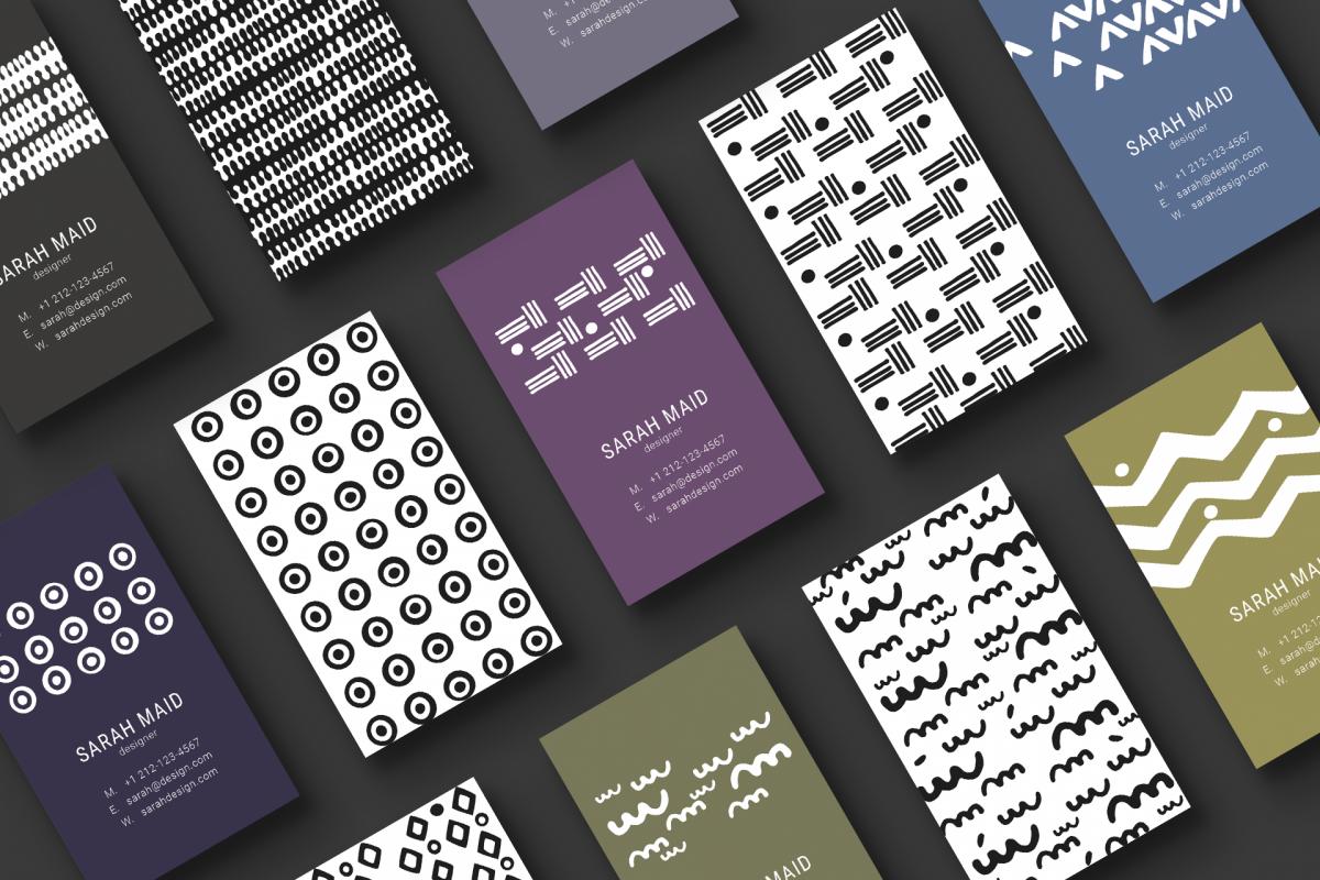 Minimal designer business cards by feli design bundles minimal designer business cards example image colourmoves