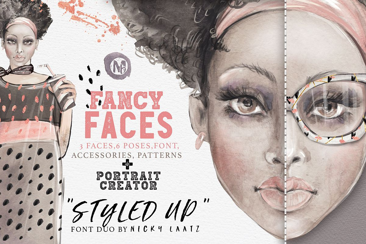 40% OFF! 'FANCY FACES' example image