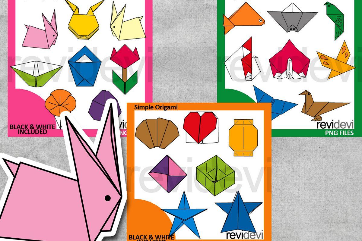 Origami Paper Folding Design Graphic Bundle Example Image