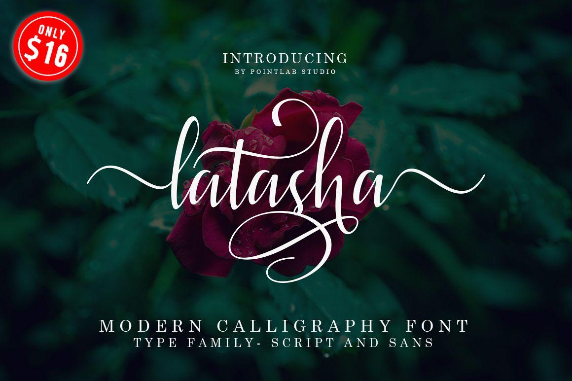 Latasha Font Family - 6 Font example image