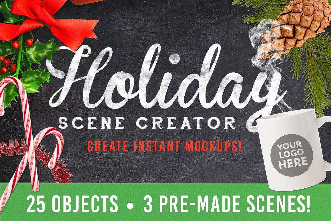 Christmas Holiday Mockup Scene Creator example image