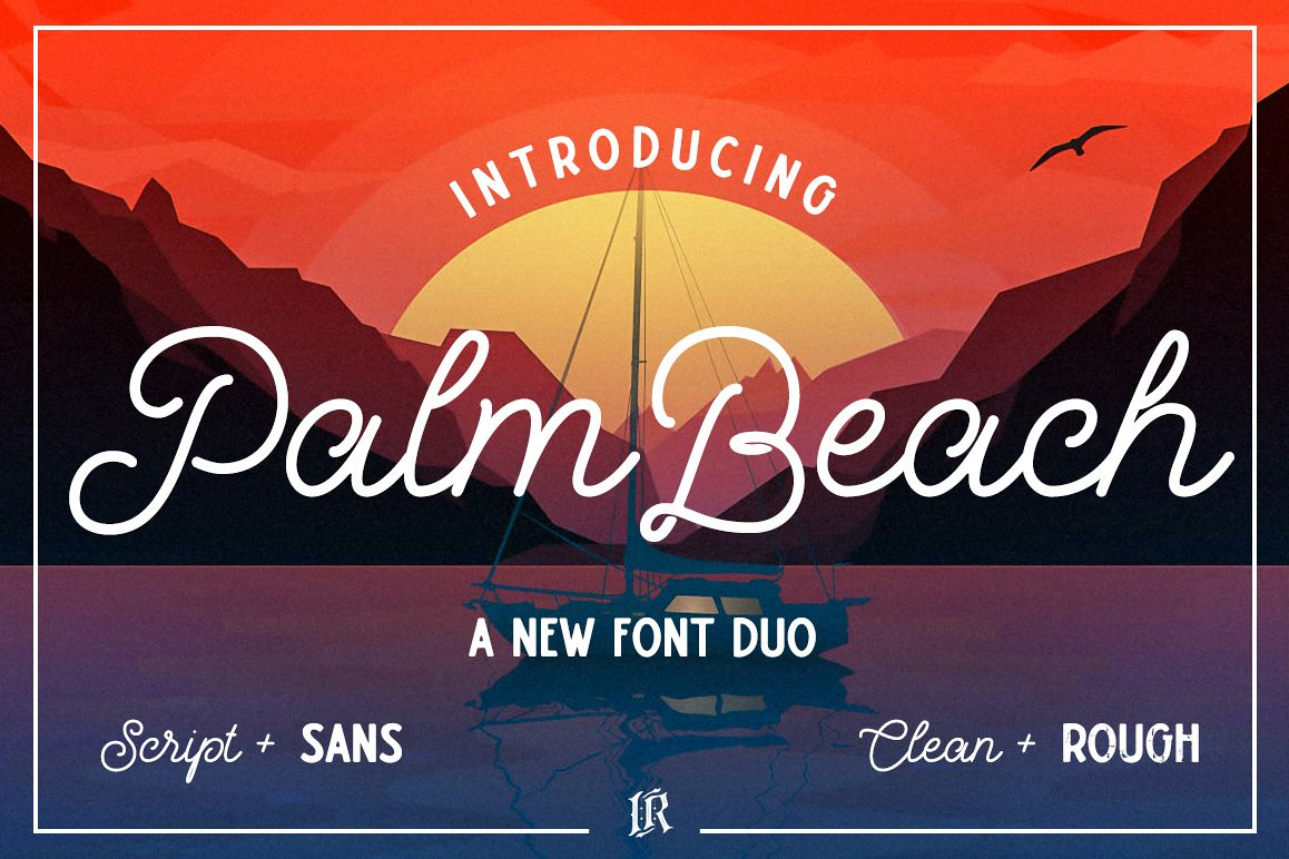 Palm Beach Font Duo example image