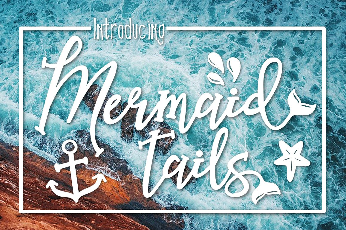 Mermaid Tails a Handwritten Typeface example image