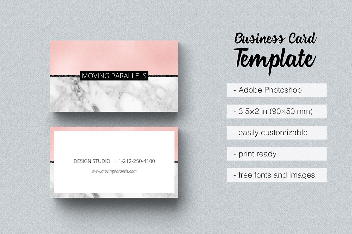 Rose gold pink foil marble business car design bundles rose gold pink foil marble business card example image fbccfo Image collections