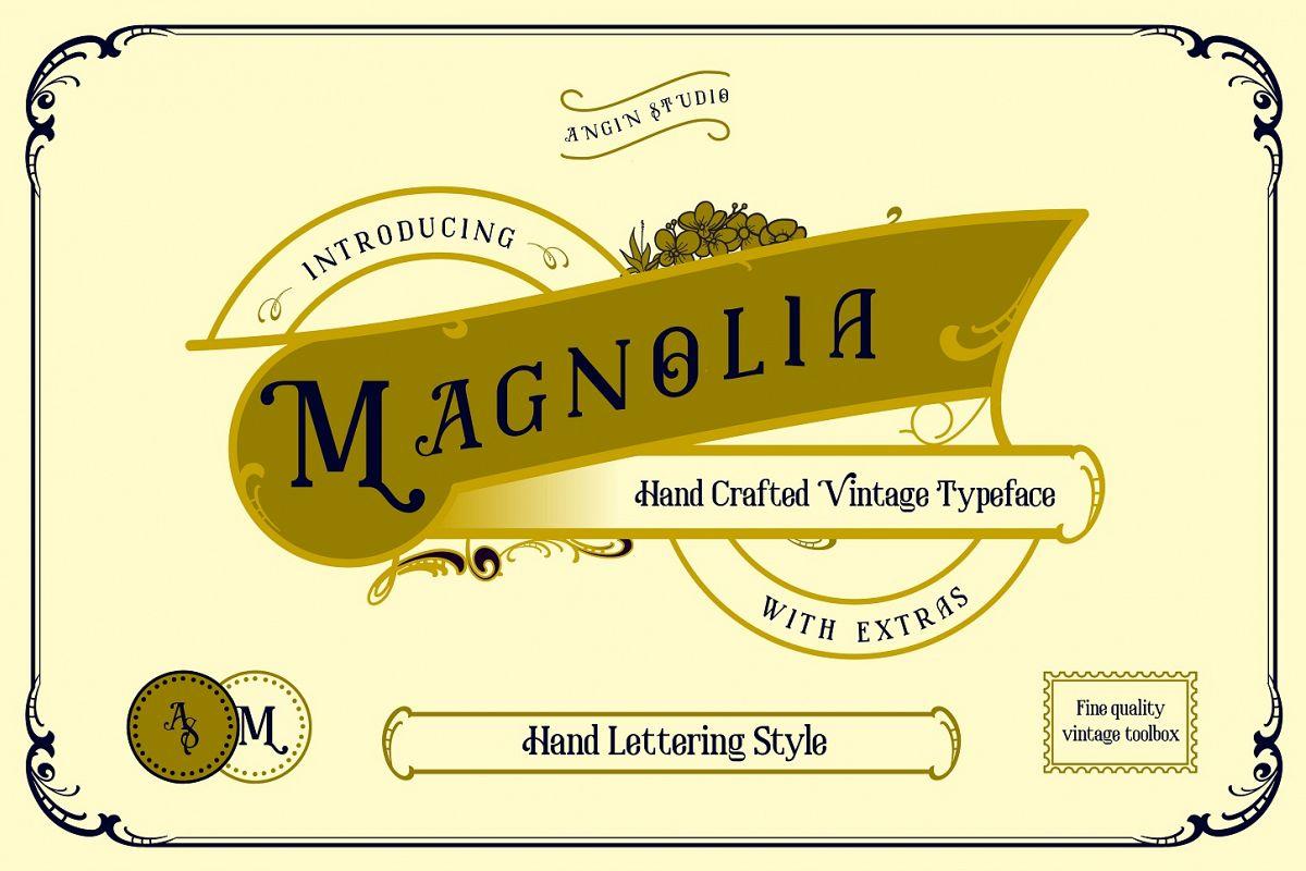 Magnolia Vintage Typeface example image