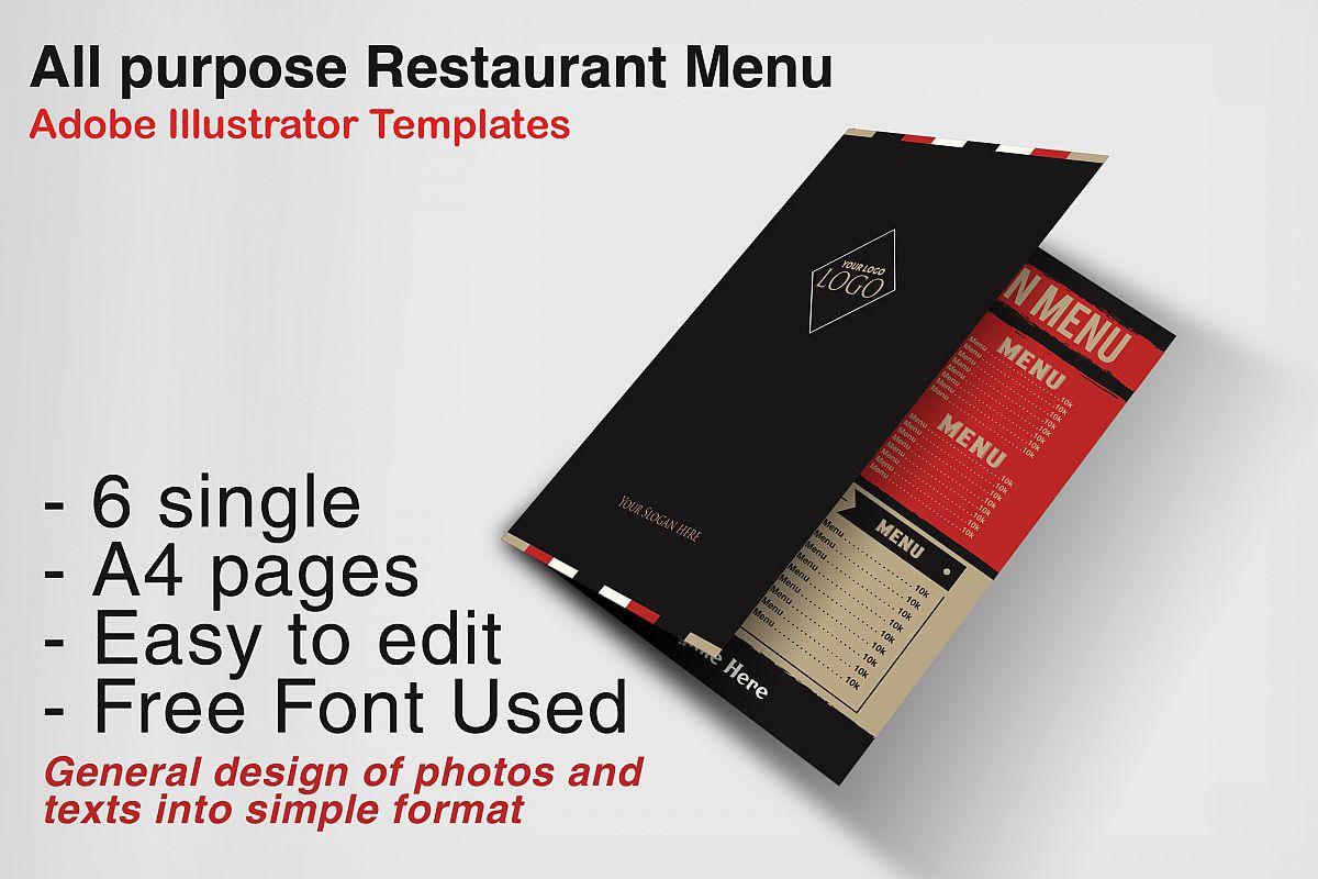 Restaurant Menu example image