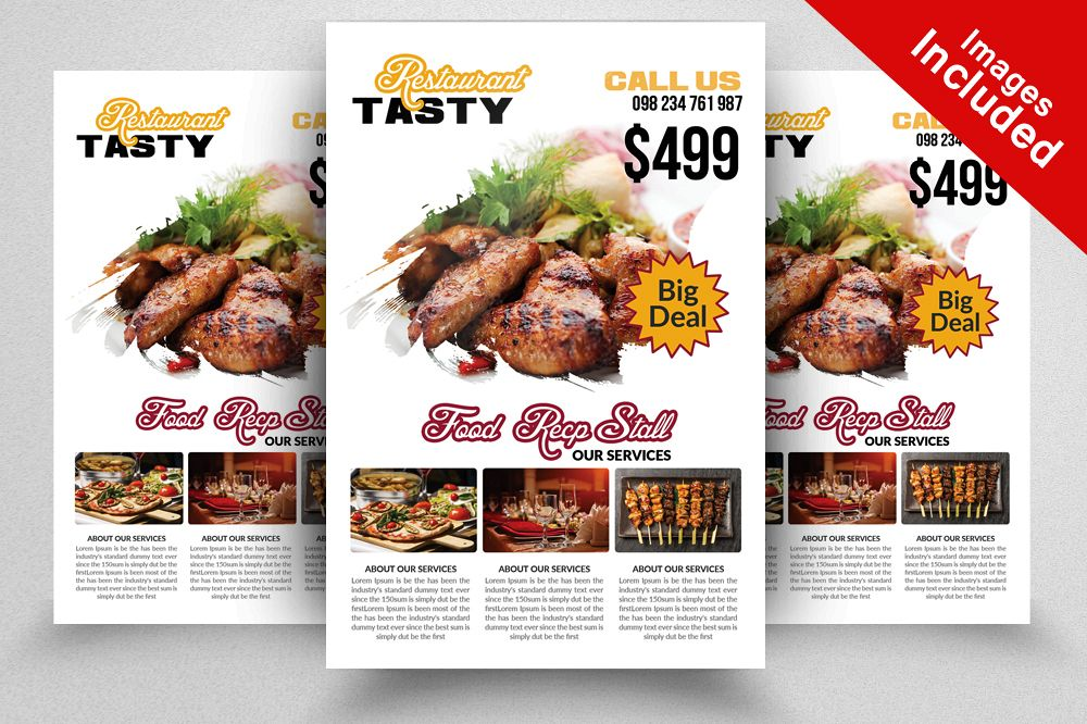 elegant restaurant flyer template example image