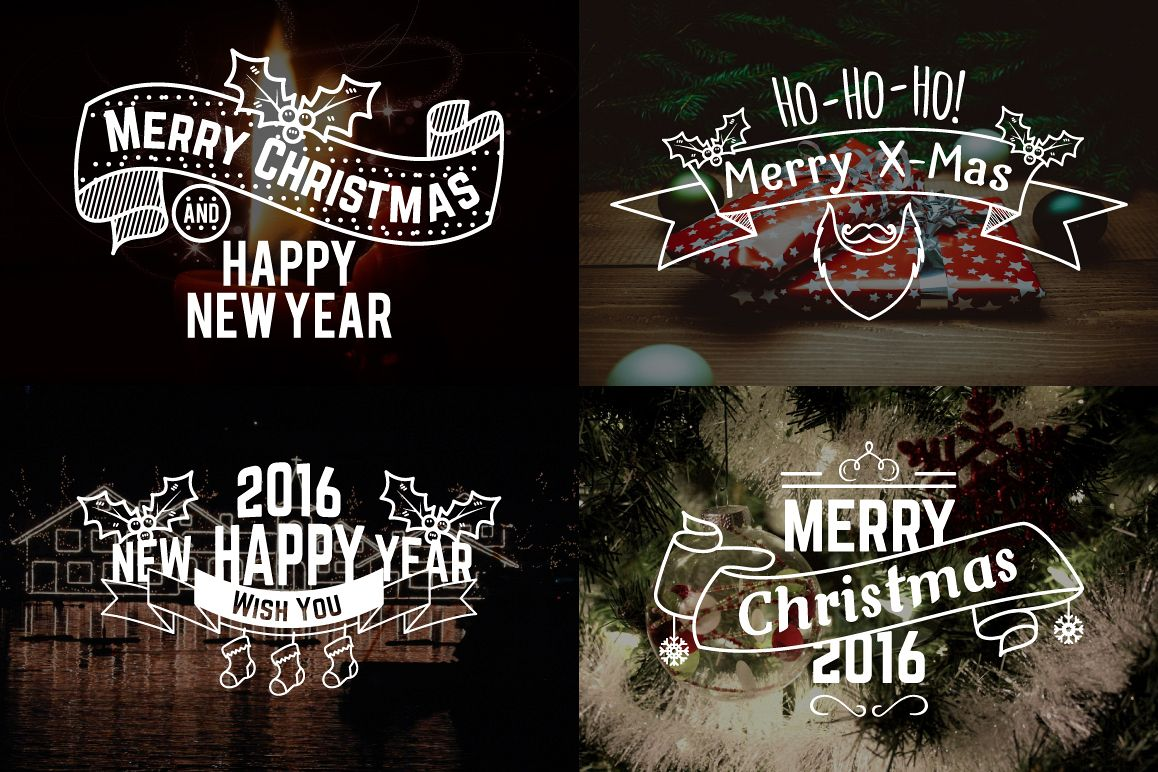 Christmas & New Year Labels & Badges example image 2