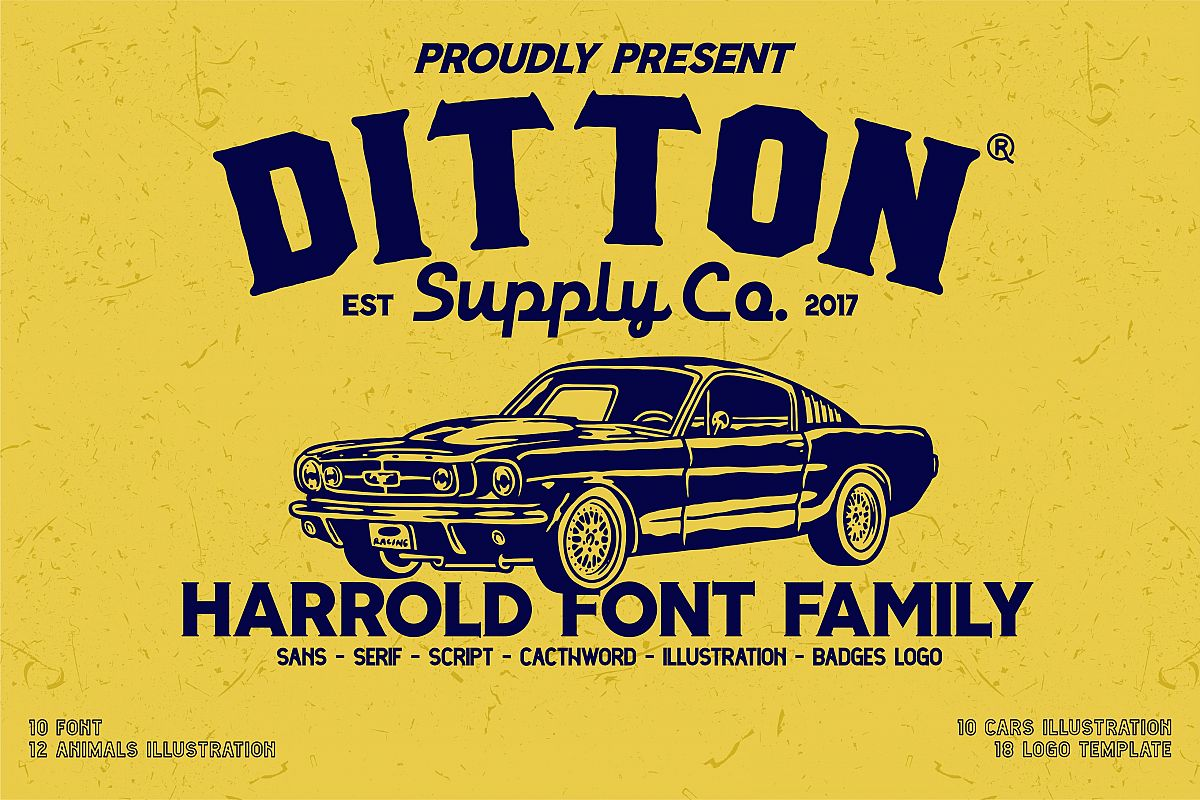 Harrold Font Family & Vector Collections example image 1
