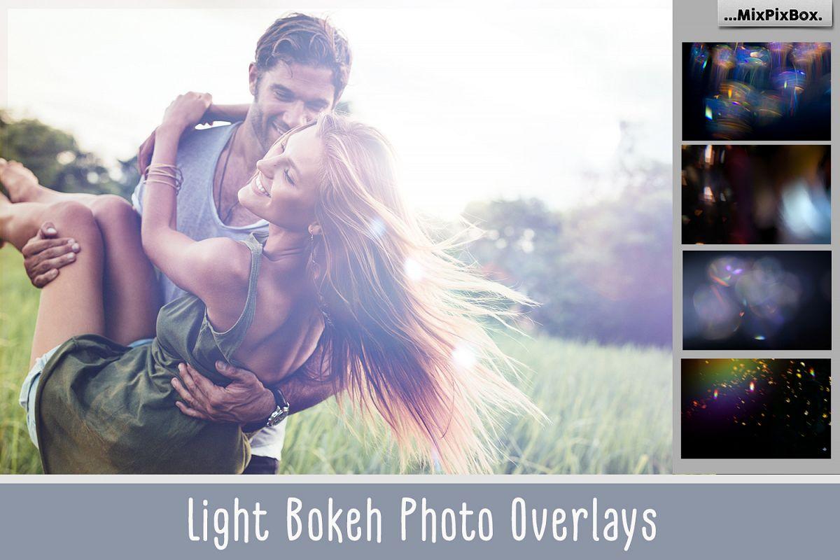 60 Light Bokeh Overlays example image
