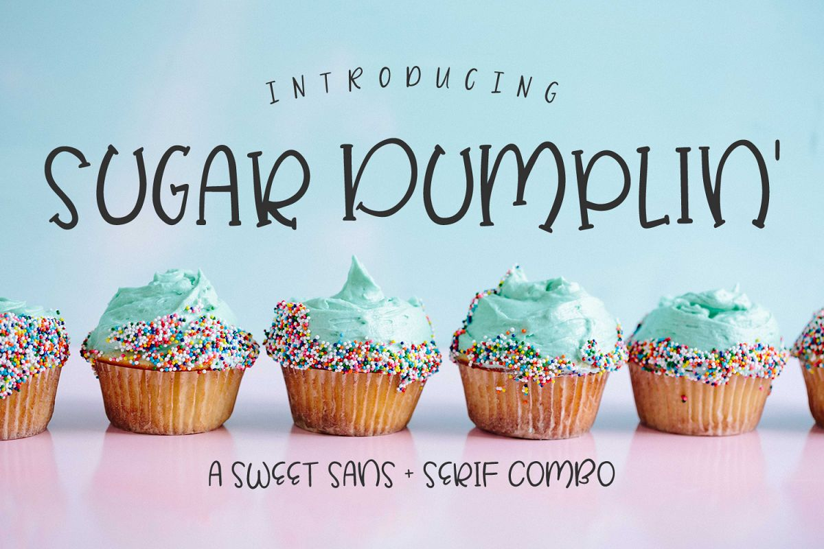 Sugar Dumplin' Sans & Serif Font Duo example image