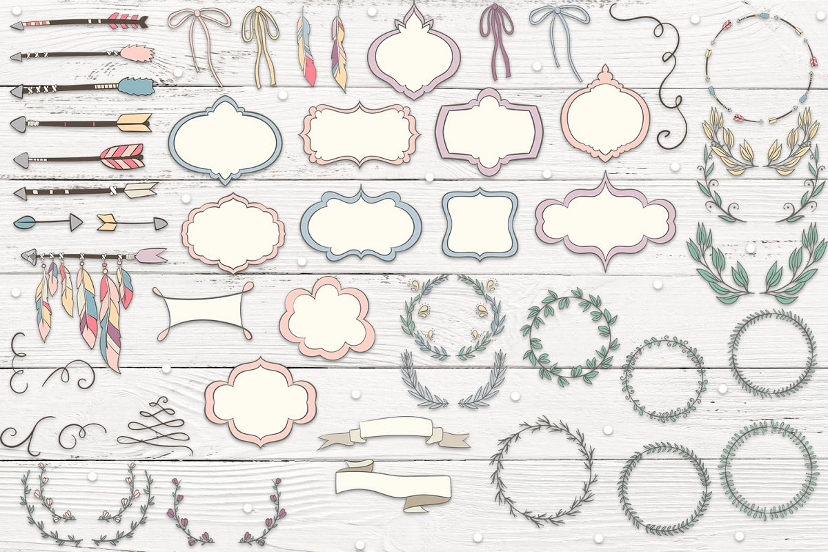 Arrows, Frames and Wreaths example image 2
