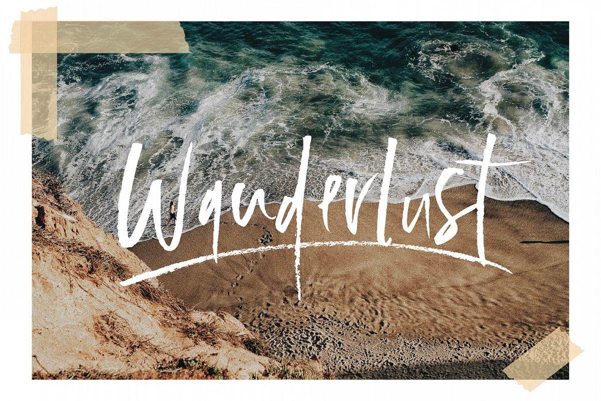 Wanderlust Font Set example image