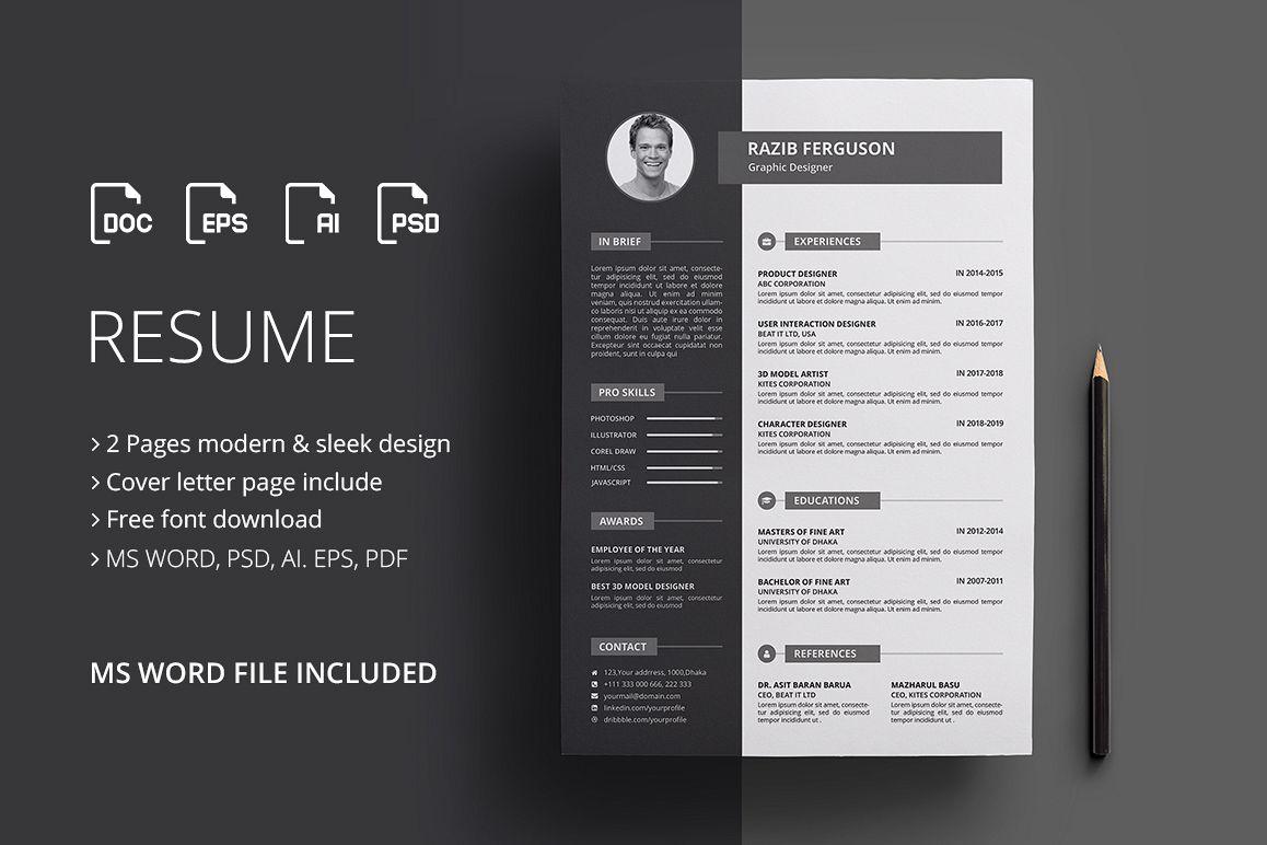 Resume / CV by Jilapi | Design Bundles