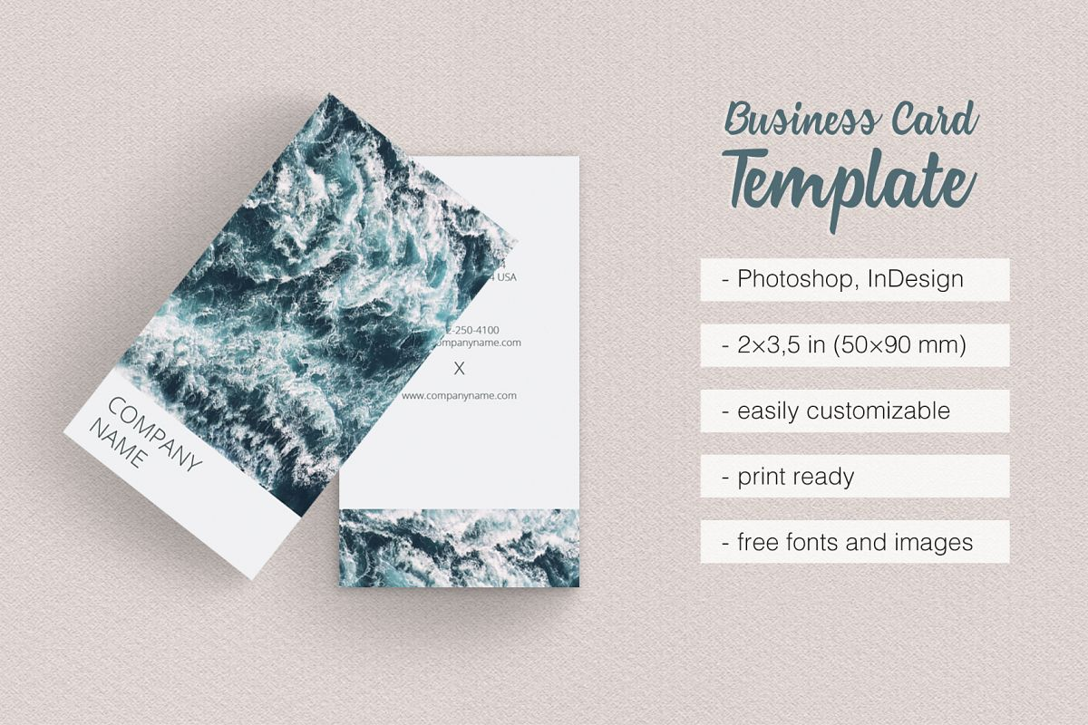 Vertical Photographer Business Card by | Design Bundles