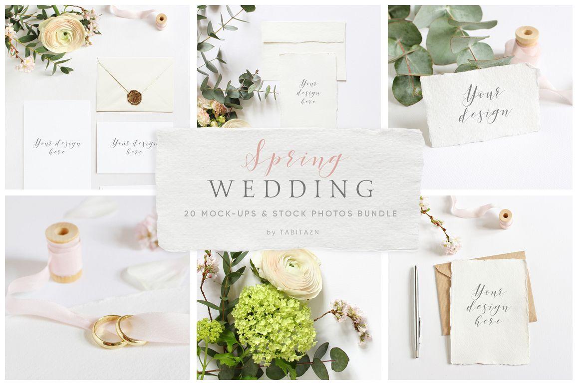 Spring Wedding mockups  & stock photo bundle example image