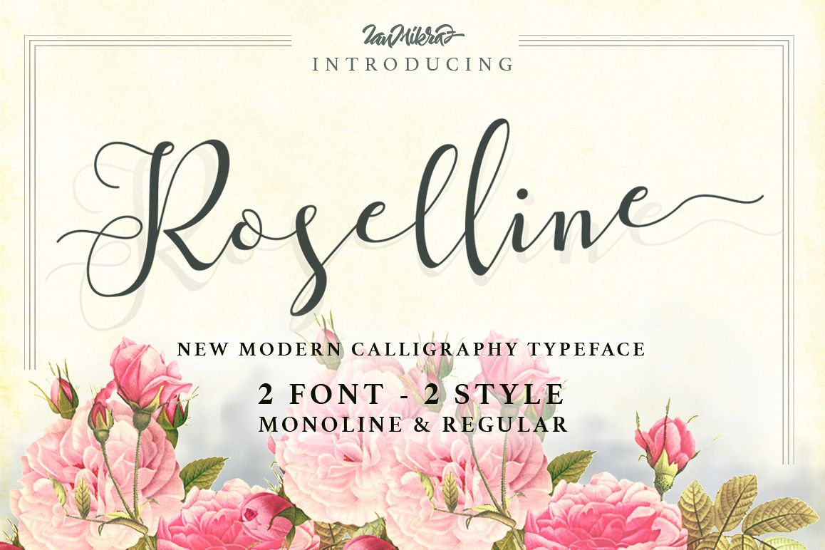 Roselline Typeface example image