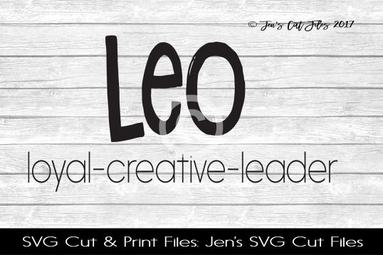 Leo Zodiac SVG Cut file example image