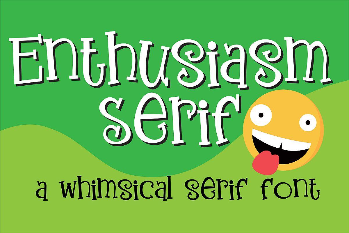 ZP Enthusiasm Serif example image