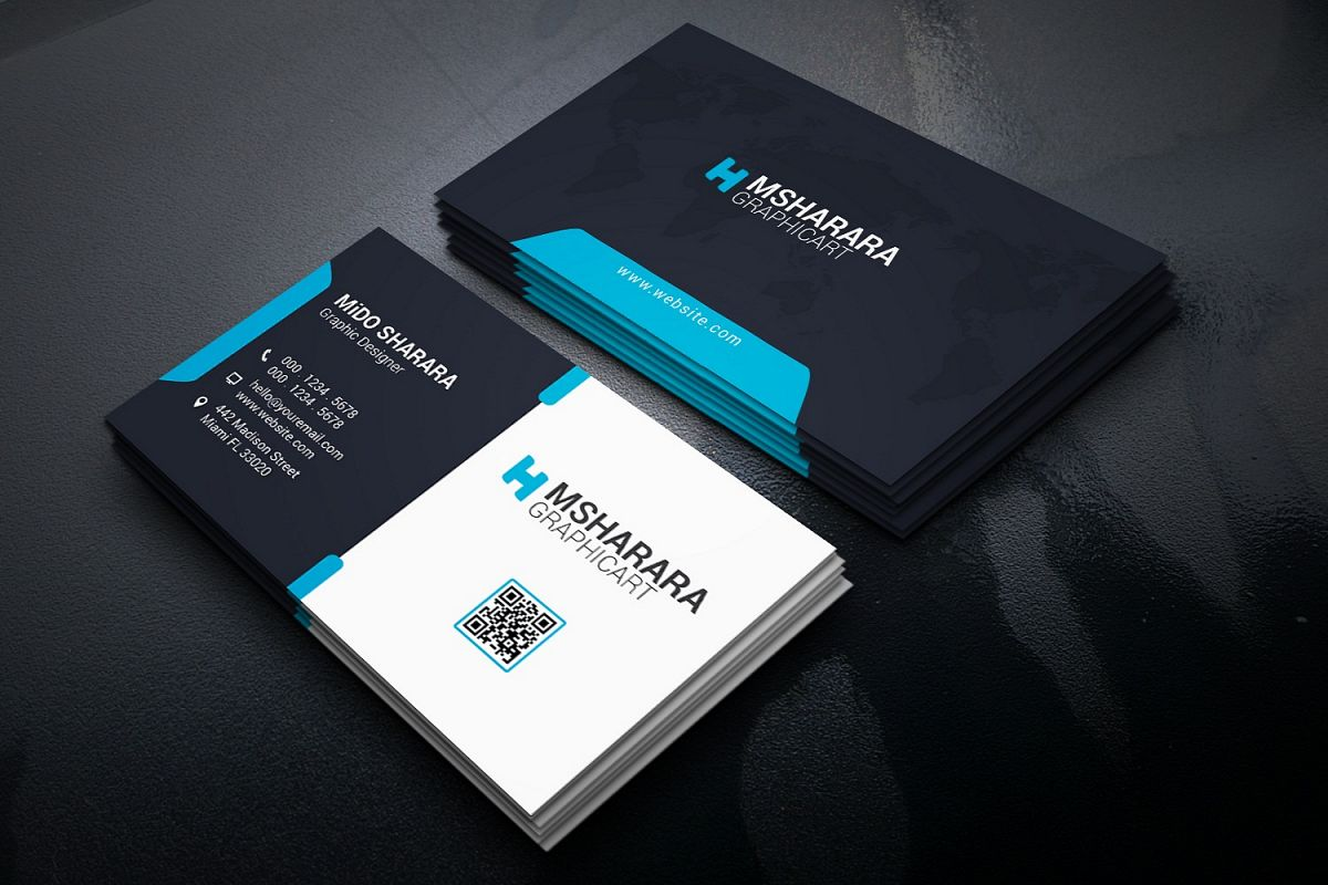 Corporate Business Card by Msharara | Design Bundles