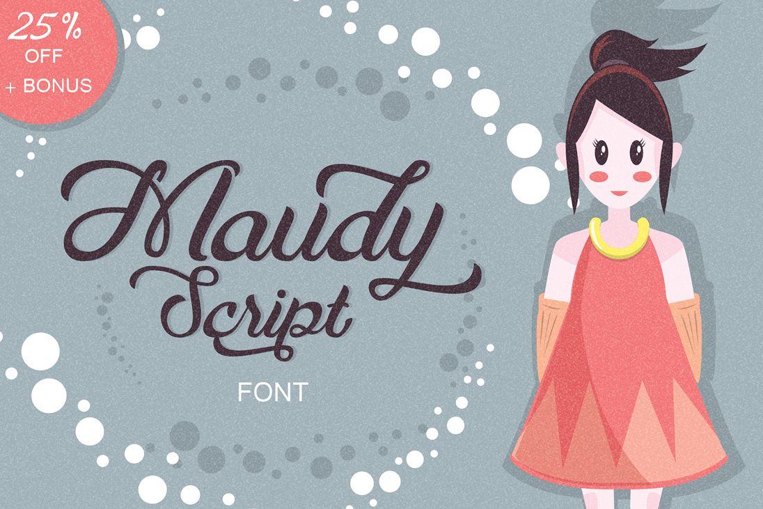 Maudy Script + Bonus example image