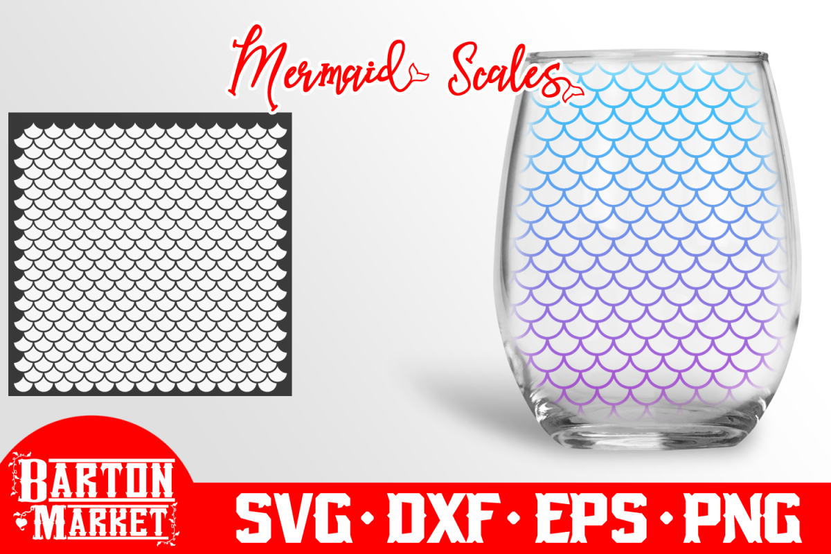 Mermaid Scales SVG DXF EPSPNG example image
