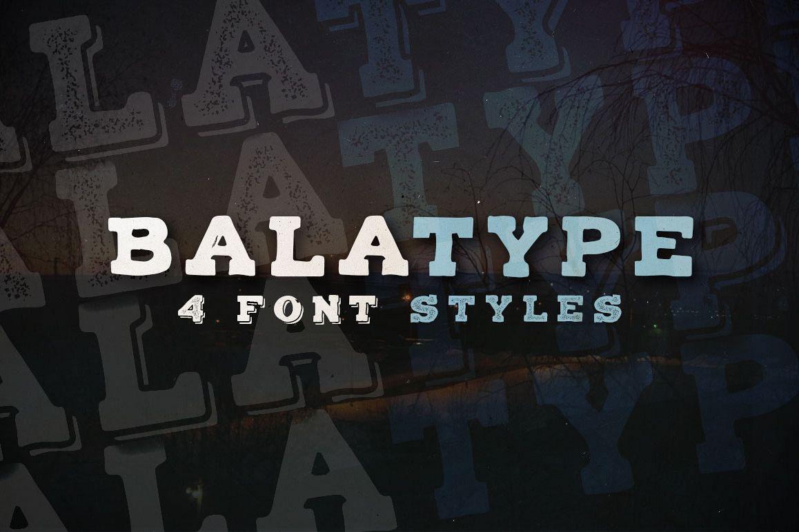 Balatype - 4 Hand Drawn Fonts example image