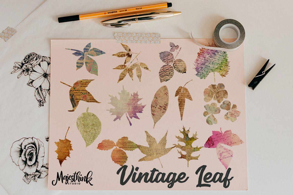 Vintage Leaf Clip Art