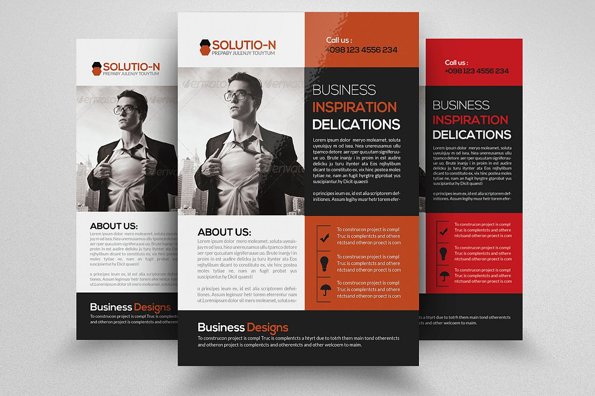 Business Flyers Templates by Designhub7 | Design Bundles