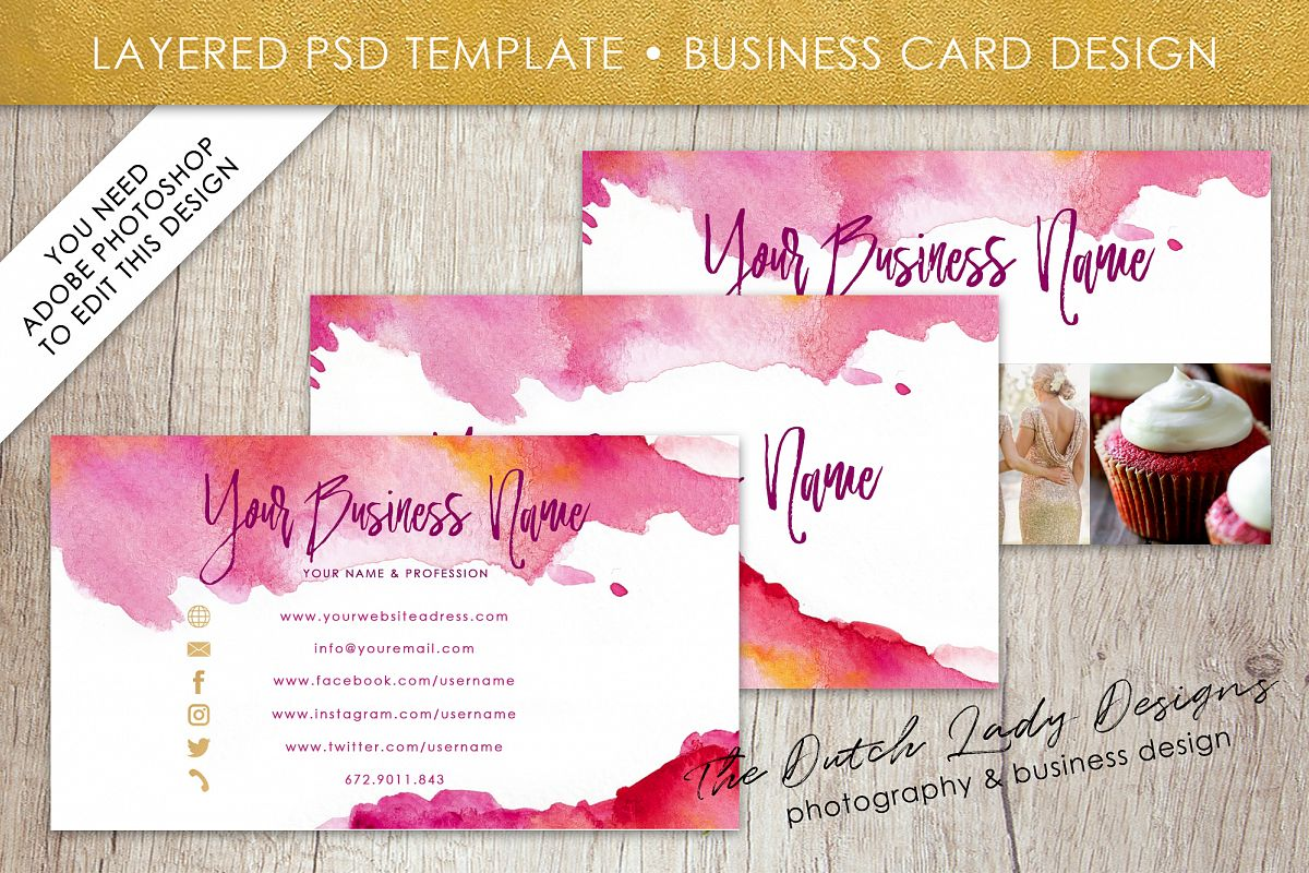 Business card template for adobe photos design bundles business card template for adobe photoshop layered psd template design 4 example image wajeb Images