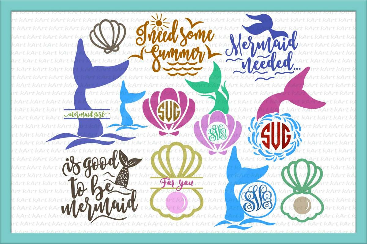 Mermaid Monogram Embroidery Design